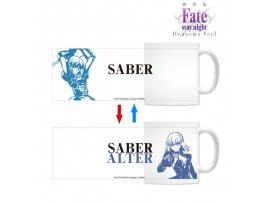 "預訂 10月 日版 armabianca Fate/stay night -杯Heaven's Feel-"" Changing Mug Saber or Saber Alter-"