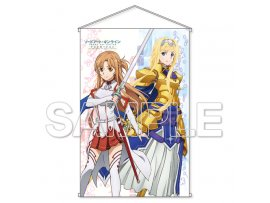 "KADOKAWA  刀劍神域  騎士Ver. Sword Art Online Alicization"" HD Wall Scroll Asuna & Alice Knight Ver."