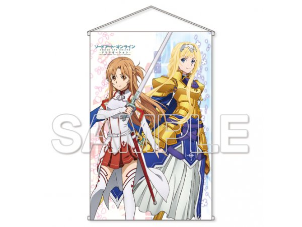 "預訂 12月  KADOKAWA  刀劍神域  騎士Ver. Sword Art Online Alicization"" HD Wall Scroll Asuna & Alice Knight Ver."