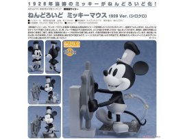 預訂 5月  Good Smile 汽船威利號 1010A黏土人 米老鼠 1928 Ver.(黑白) Nendoroid Steamboat Willie Mickey Mouse 1928 Ver.