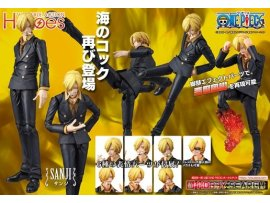 日版  MegaHouse 山治  Variable Action Heroes - ONE PIECE: Sanji Action Figure