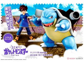 預訂 7月 日版  MegaHouse 小茂 水箭龜 G.E.M. Series - Pokemon: Gary & Blastoise PVC Figure