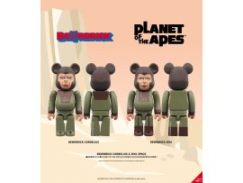 "SRP Medicom Toy 005_BE@RBRICK CORNELIUS & ZIRA 2 PACK (BE@RBRICK ""Planet of the Apes"" Cornelius & Zira 2 Pack)"