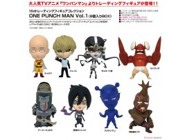 16 directions  16d Collectible Figure Collection: 一拳超人 盒旦 One Punch Man Vol.1 (Set of 8)