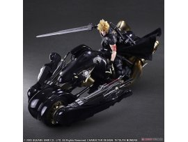 預訂 10月 日版   Square Enix 最終幻想VII 克勞德·史特萊夫 +車 Play Arts Kai - Final Fantasy VII ADVENT CHILDREN: Cloud Strife & Fenrir