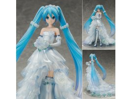 預訂 6月 FREEing [Exclusive Sale] 初音未來 結婚禮服Ver Character Vocal Series 01 Hatsune Miku Wedding Dress Ver. 1/7  PVC Figure