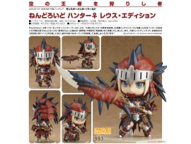 預訂 4月  Good Smile 993黏土人 獵人♀雷烏斯裝 Nendoroid Monster Hunter: World Female Hunter Rathalos Edition