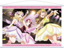 日版  Movic 水團 Love Live! Sunshine!! - Wall Scroll / Hurricane Blossom