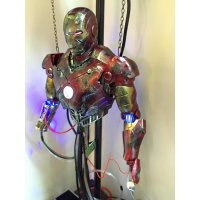魔改]  Hottoys Ironman Mark3 維修版 Mark III Construction Version 半胸像