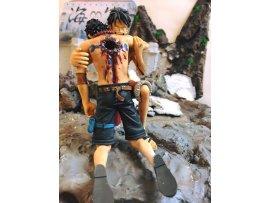 魔改]  1set2 One Piece Dramatic Showcase vol.1 海賊王 路飛 艾斯 BANPRESTO
