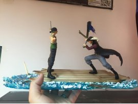 魔改]  BANPRESTO ONE PIECE DRAMATIC SHOWCASE 7TH  海賊王 鷹眼 HAWKEYE VS  卓洛 索隆 ZORO