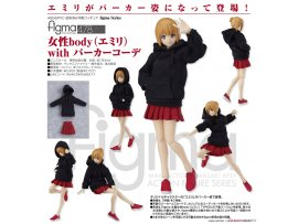 預訂 1月 Max Factory 478 figma 女性body(Emily) with 連帽衣裝 PVC Figure
