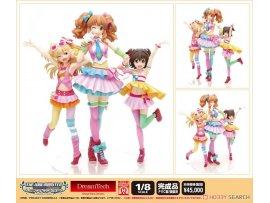 Wave THE IDOLM@STER Cinderella Girls 偶像大師 灰姑娘 Decoration 城崎莉嘉 & 諸星琪拉莉 & 赤城米莉亞 Premium Set Figure
