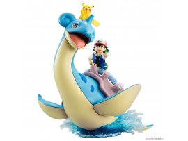預訂 2月  MegaHouse 寵物小精靈&皮卡丘&拉普拉斯G.E.M. Series Pokemon Ash Ketchum , Pikachu, and Lapras  PVC Figure