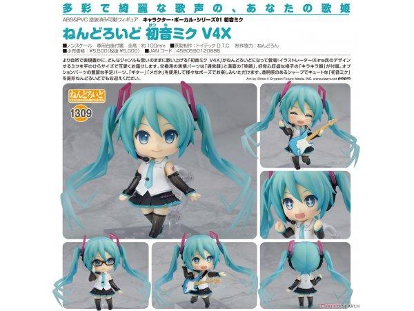 預訂 10月 GSC 1309  黏土人 初音未來 V4X  PVC Figure