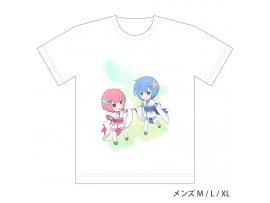 "Curtain Tamashii Re:Zero kara Hajimeru Isekai Seikatsu  從零開始的異世界生活"" Full Color T-shirt Ram & Rem / Childhood (M Size)"