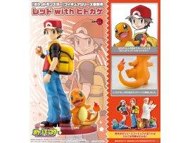 """日版 Kotobukiya 壽屋 ARTFX J """"Pokemon"""" 寵物小精靈 Series Red with Charmander 1/8 PVC Figure"""