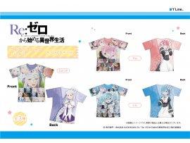 日版 Hobby Stock Re:Zero kara Hajimeru Isekai Seikatsu 從零開始的異世界生活 Full Graphic T-shirt