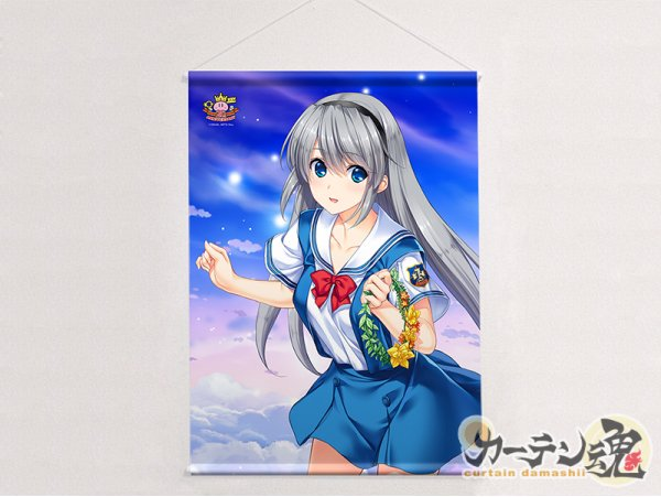 """預訂 12月 日版 Curtain Tamashii Key 20th B2 Tapestry """"Clannad"""" Tomoyo 坂上智代 Key 20th"""