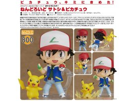 日版 Good Smile Nendoroid 800 Pokemon 寵物小精靈 Ash 小智 & Pikachu 皮卡超
