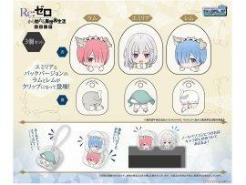 日版 Chara-ani Toy'sworks Collection Niitengo Clip Re: Zero -Starting Life in Another World Re:從零開始的異世界生活 Hyouketsu no Kizuna Set of 3