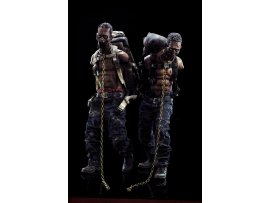 THREE ZERO 3A The Walking Dead 陰屍路 Michonne's 米瓊恩 Pet Walker Twin Pack