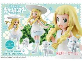 日版 MegaHouse  G.E.M. Series - 寵物小精靈 Pokemon : Lillie & Snowy Alola Vulpix 六尾 PVC Figure