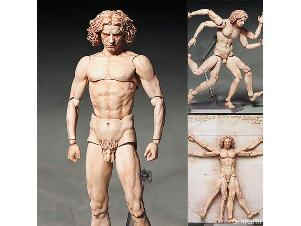 Freeing figma SP-075 Vitruvian Man The Table Museum PVC Figure
