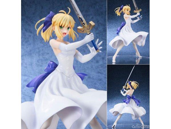再版 Bellfine Fate / stay night Saber 亞瑟王 White Dress Ver 1/8 PVC Figure