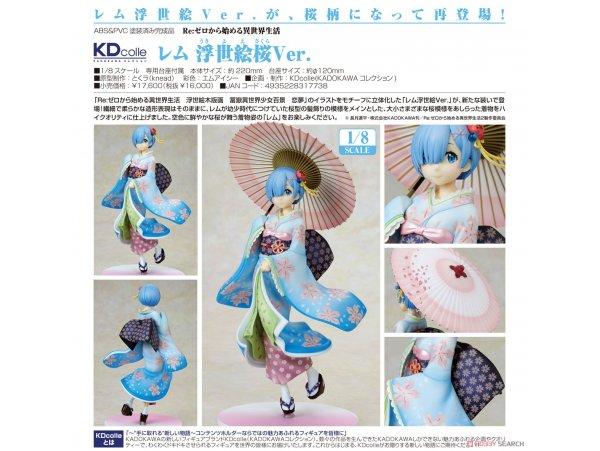 預訂 2月 日版 KADOKAWA 角川 KDcolle Re:ZERO -Starting Life in Another World 從零開始的異世界生活 Rem 蕾姆 浮世繪櫻 Ukiyo-e Cherry Blossom Ver 1/8 PVC Figure Pre-order