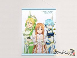 "預訂 2月 日版 Curtain Tamashii 刀劍神域  戰爭  War of Underworld B2 ""Sword Art Online Alicization War of Underworld"" B2 Tapestry Asuna & Leafa & Sinon  Pre-order"