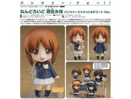預訂 3月 日版 Good Smile Nendoroid 825 Girls und Panzer das Finale 少女與戰車 Miho Nishizumi 西住美穗 Panzer Jacket & Peacoat Ver Pre-order