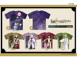 Y Line  Fate/Grand Order -絶対魔獣戦線バビロニア- フルグラフィックTシャツ  T-shirt 5種