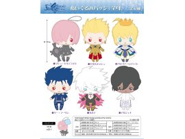 "日版 TwinCre Fate/Grand Order - ""Design produced by Sanrio"" Plush Badge (Full Body) : Mashu / Gilgamesh / Altria / Cu Chulainn / Karna / Arjuna 公仔"