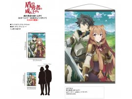 5月 日版  Azu Maker The Rising of the Shield Hero 盾之勇者成名錄 B2 Wall Scroll A Naofumi 岩谷尚文 & Raphtalia 拉芙塔莉雅 Pre-order