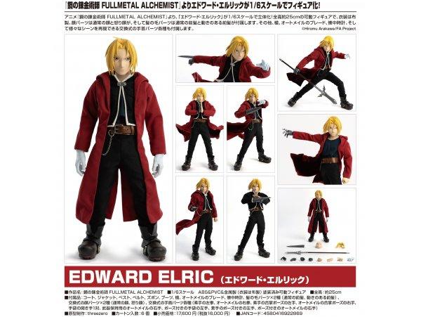 """預訂 6月 日版 Threezero Fullmetal Alchemist 鋼之錬金術師 Brotherhood"""" 1/6 Edward Elric 愛德華 艾力克"""