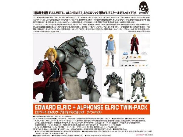 """預訂 6月 日版 Threezero Fullmetal Alchemist 鋼之錬金術師 Brotherhood"""" 1/6 Edward Elric 愛德華·艾力克 + Alphonse Elric 艾爾凡斯·艾力克 Twin-pack"""