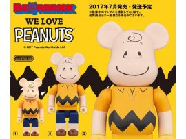 日版 WE LOVE PEANUTS  BE@RBRICK CHARLIE 查利 BROWN 1000%