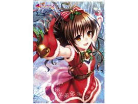 "日版 Kentaro Yabuki ""To Love-Ru Darkness結城美柑 A3 Clear Poster Mikan  Christmas Ver 掛晝"