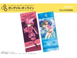 "日版  Canaria 刀劍神域外傳 2種 Sword Art Online Alternative Gun Gale Online"" Microfiber Face Towel"