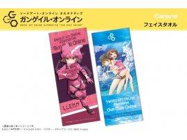 "日版  Canaria 刀劍神域外傳 2種 Sword Art Online Alternative Gun Gale Online"" Microfiber Face Towel"